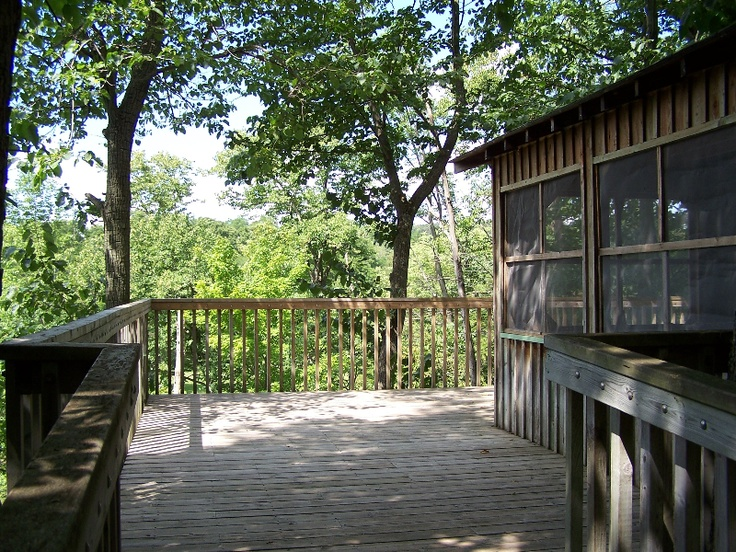 Accessible tree house overlooking the Thames River.