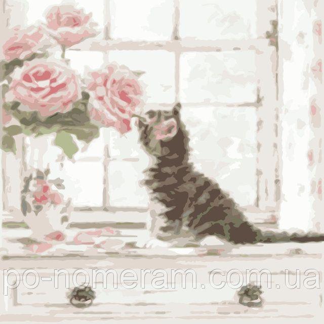 Холст по номерам Идейка Запах роз (KHO2465) 40 х 40 см, фото 1