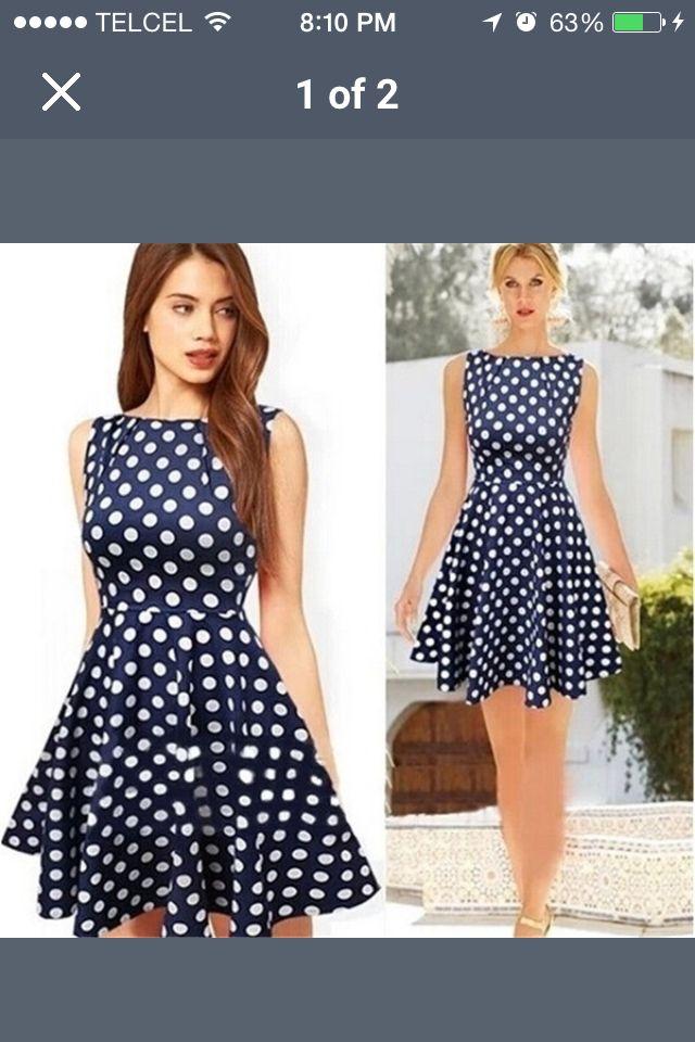 7abb0f6141 Vestido de bolitas color azul