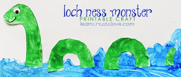 { Printable Loch Ness Monster Craft }