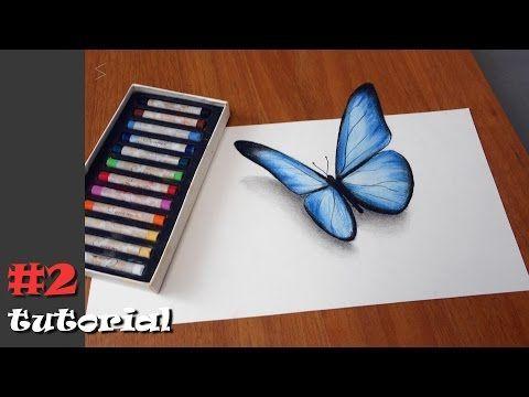 (31) Как нарисовать бабочку в 3d. Иллюзия объема БЕЗ КАМЕРЫ и под любыми углами!!! - YouTube