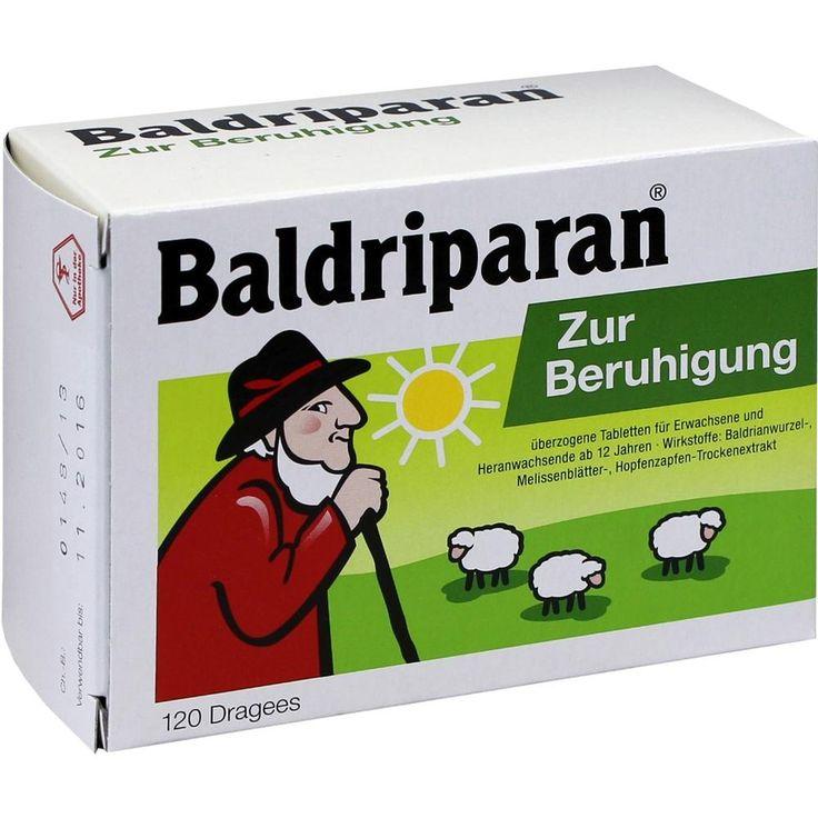 BALDRIPARAN Zur Beruhigung überzogene Tabletten:   Packungsinhalt: 120 St Überzogene Tabletten PZN: 10124803 Hersteller: Pfizer Consumer…