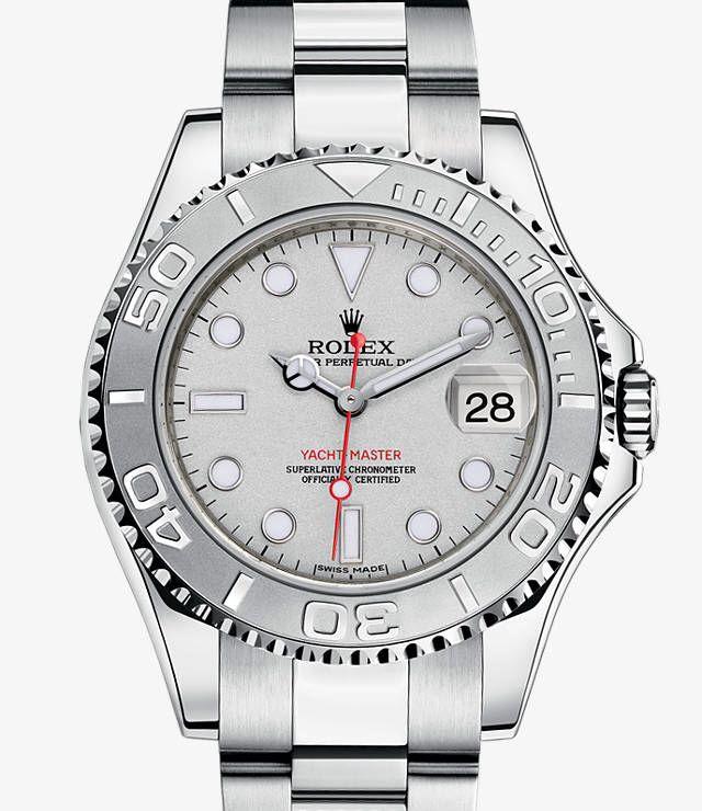 Rolex Yacht-Master: Platinum Dial and Bezel, Rolesium Case, SS Bracelet 16622