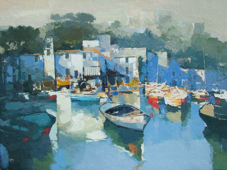 "Saatchi Art Artist: Alex Bertaina; Oil 2008 Painting ""Le port azur"""
