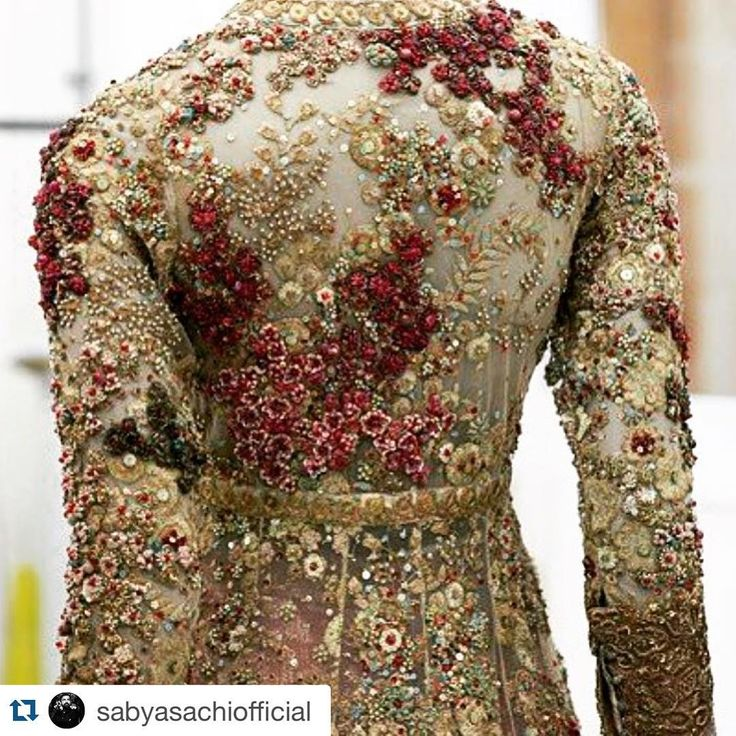 """Details are everything ❤️ #Repost @sabyasachiofficial with @repostapp. ・・・ #SabyasachiMukherjee #Couture #SabyasachiCouture #Sabyasachi…"""