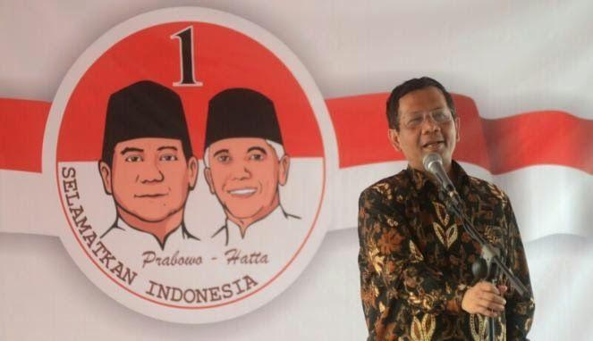 Prof. Dr. Mahfud MD, Menyatakan kemenangan Prabowo - Hatta   www.BeritaOnline.co.id