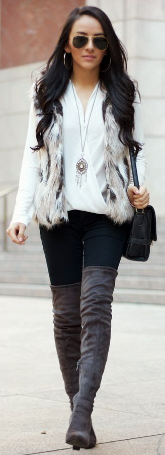 Best 25 Grey Boots Ideas On Pinterest Grey Boots Outfit