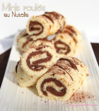 Minis roulés au Nutella