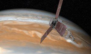 Juno probe: Nasa's solar-powered spacecraft has entered Jupiter's orbit after a five-year journey.