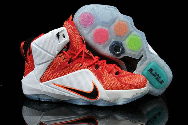 1d9ba6288bf Womens and Kids LeBron 12 Heart of a Lion University Red Sport Red White  Black