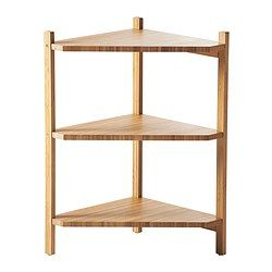 "RÅGRUND Sink shelf/corner shelf - IKEA.  23 5/8"" tall by 13 3/8"" wide and deep. This could be awesome in the bathroom."