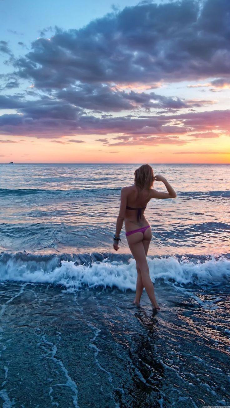 Beach Girl Lock Screen 1440x2560 Samsung Galaxy Note 4