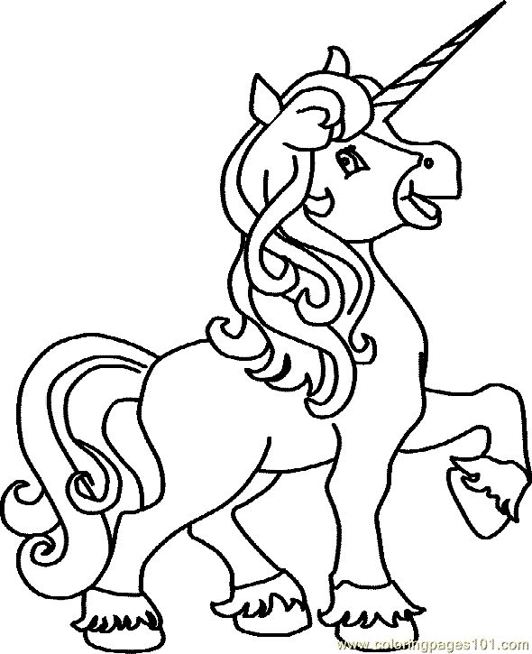 horses and unicorns coloring pages - photo#14