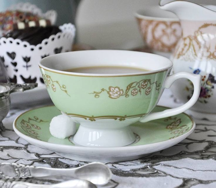 Vintage Inspired Regency Tea Cup And Saucer