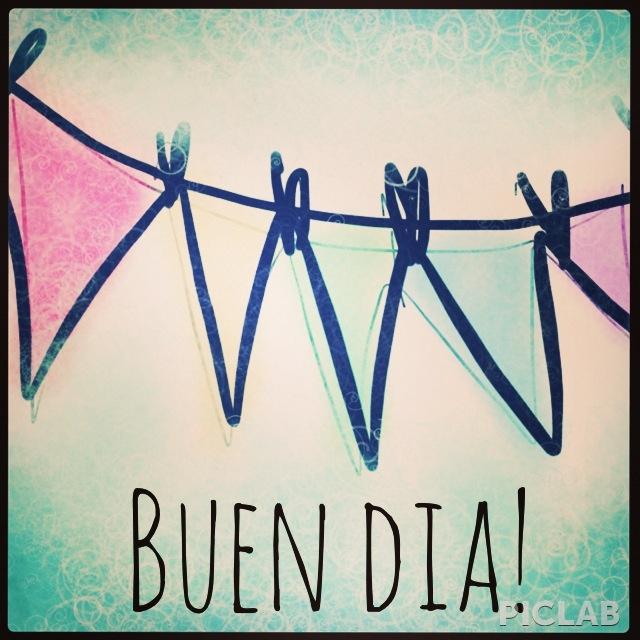 Illustration art draw good morning buen dia banderines party happy