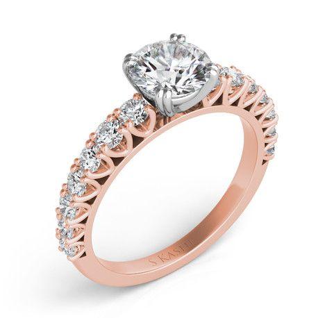Rose Gold Engagement Ring style number EN7291RG.