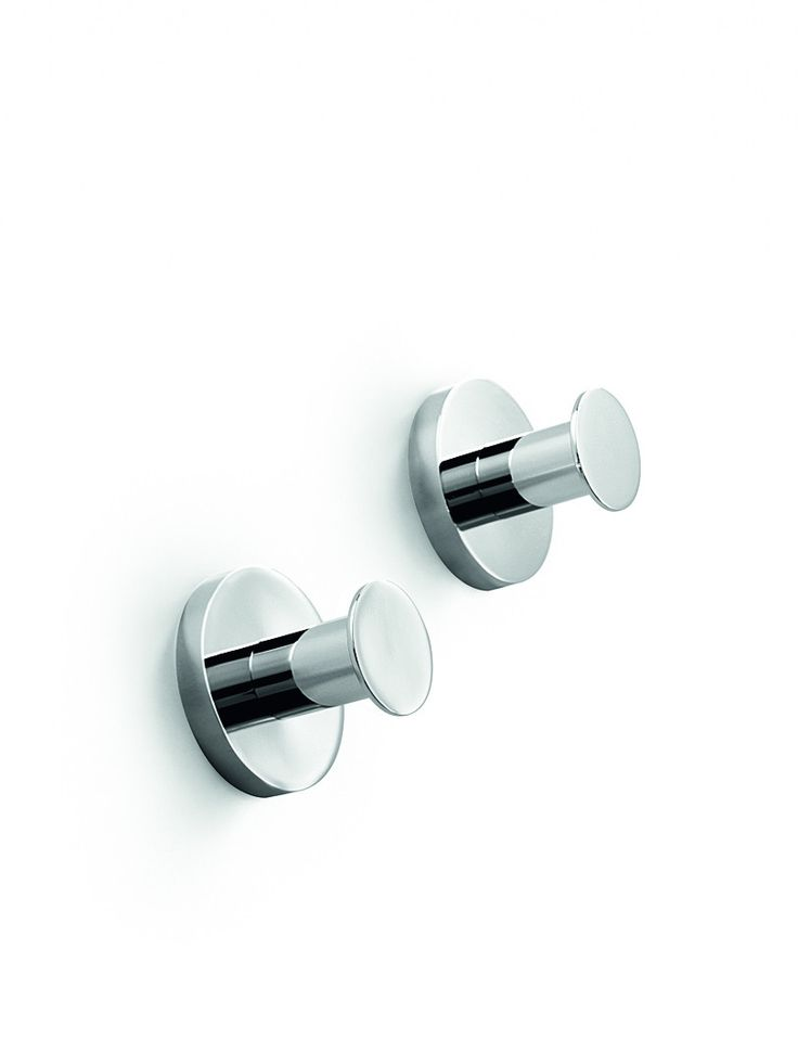 Linea Napie Brass Double Towel Robe Hook Towel Hanger set of 2 for Bath, Chrome