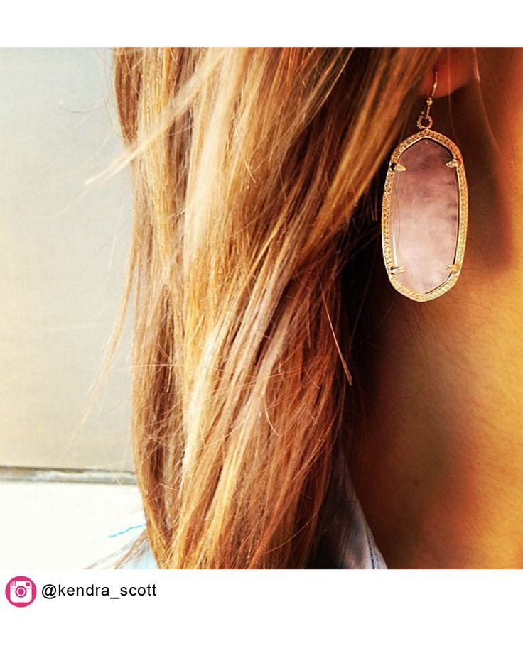 Elle Earrings in Rose Quartz - Kendra Scott Jewelry...kinda obsessed with these