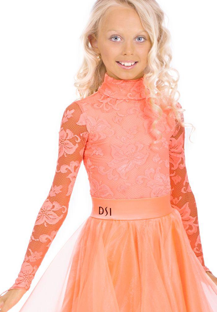 DSI Elena Juvenile Ballroom Leotard 1096J   Dancesport Fashion @ DanceShopper.com