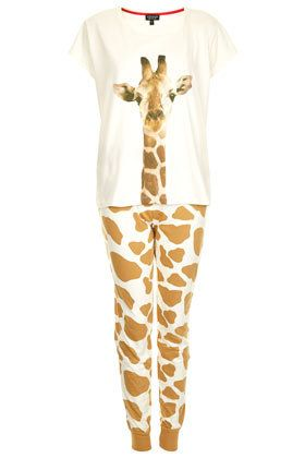 Giraffe Print PJ Set - I need these in my life, with a set for my son too! xx