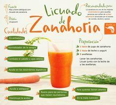 Zumo para REGULAR DESÓRDENES DIGESTIVOS: zanahoria, leche (o yogurt) y avellanas