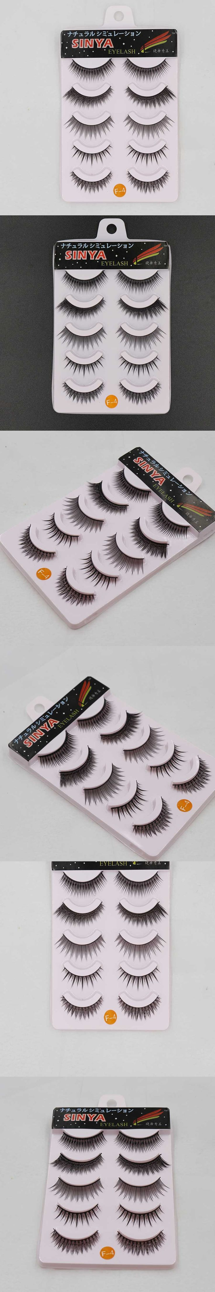 10 Pairs Crisscross Thick Tapered 3D Mink Eyelashes Extension Eye Lashes Cilios Posticos Naturais Faux Cils Nep Wimpers F-4x2