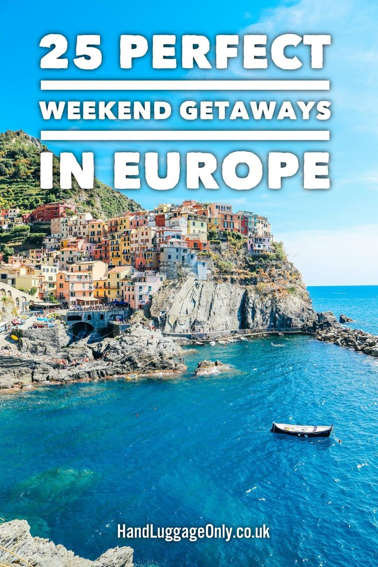 25 Perfect Weekend Getaways In Europe. Where to go in Europe for a beautiful and fun weekend away.