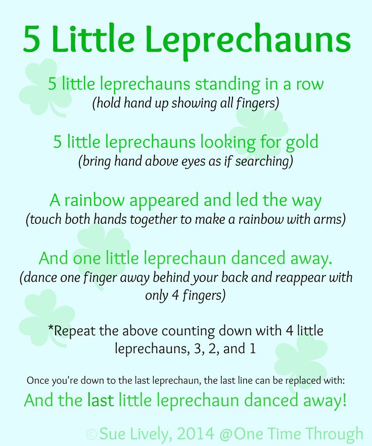 Leprechaun Finger Puppets Amp Rhyme A Well Finger Plays