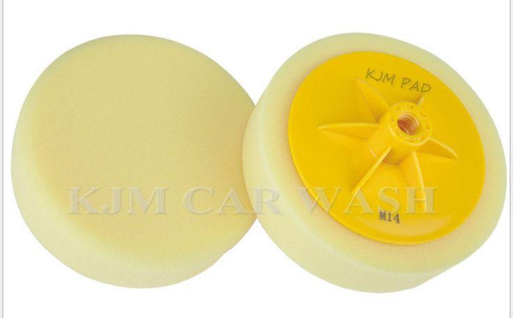"K524Free shipping(material w-8000as MEGUIAR'S car polishing pad) 6""high quanlity  soft Buff Pad with back platem14/m16 foam pad"