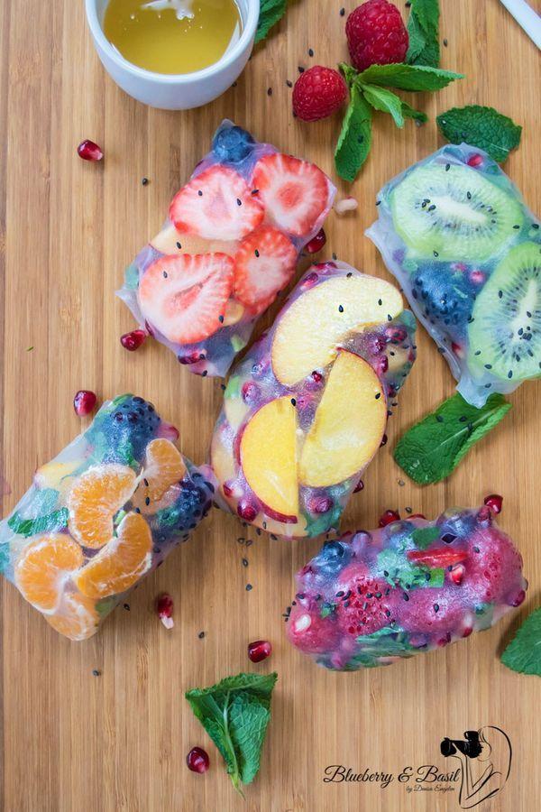 ~ Tropical Fruit Spring Rolls ~