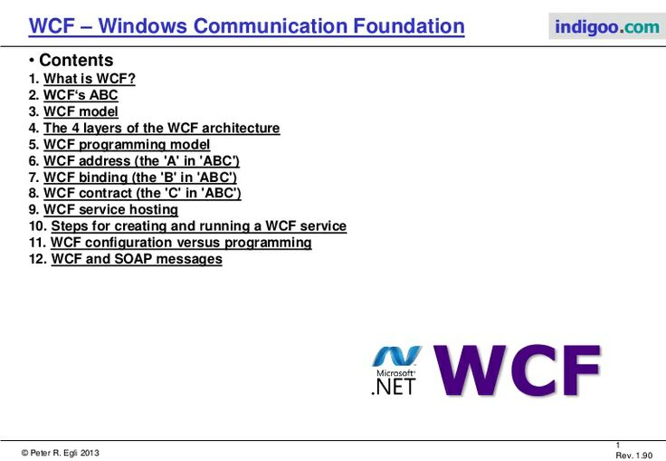 windows-communication-foundation-wcf-11426496 by Peter R. Egli via Slideshare