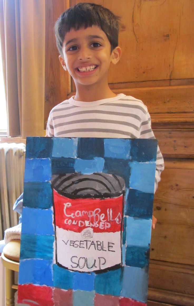 Learn about Andy Warhol and POP ART in one of our summer workshops!  www.FineArt4Kids.com
