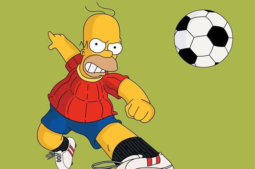 Band troca futebol por Simpsons