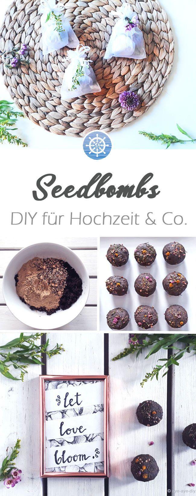 Seedbombs sind beliebte Gastgeschenke zur Hochzeit…