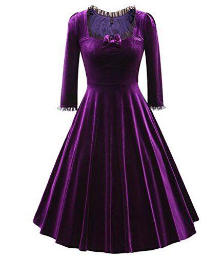 Womens Vintage 3/4 Sleeve Retro Dresses 1950s Casual Part... https://www.amazon.com/dp/B01N95CTSE/ref=cm_sw_r_pi_dp_x_wlDoybZ84Y74X
