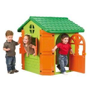 Feber house è la casetta da gioco resistente e sicura, dotata di porta e finestre apribili, colori brillanti e resistenti al sole.