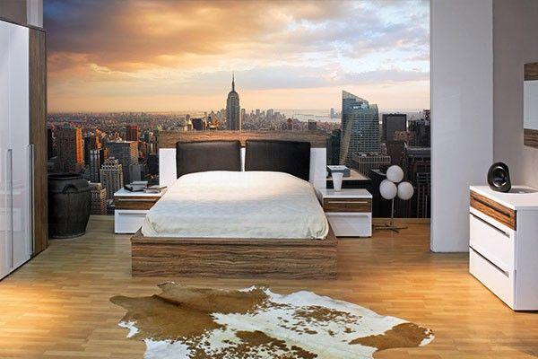 Papier peint d co empire state building chambre ado - Tapis chambre ado new york ...