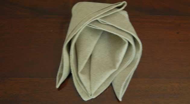 flower napkin folding instructions
