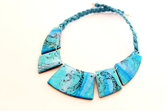Blue Statement Necklace bib necklace blue by ColoritaJewelry