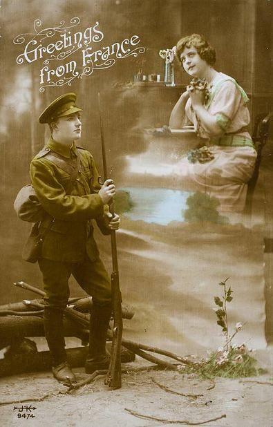 French Postcards 1914   Bonjour Paris - Armistice Day: Remembrance Day