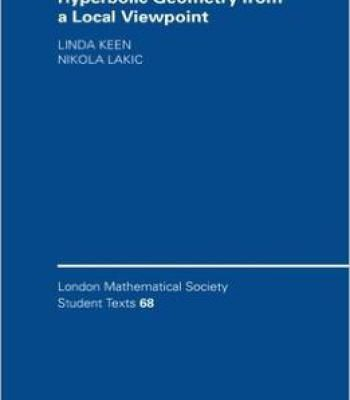 Hyperbolic Geometry From A Local Viewpoint PDF