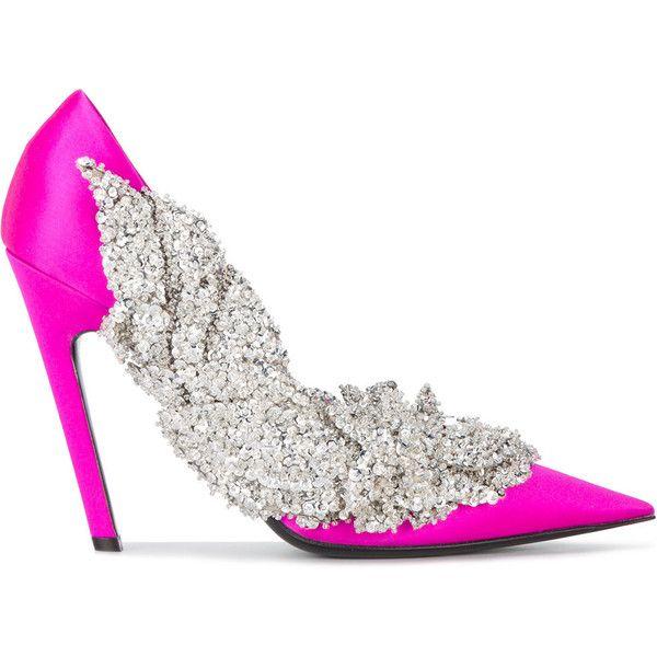 Balenciaga Slash <b>bead</b> embroidered <b>pumps</b> (169.225 RUB) liked on ...