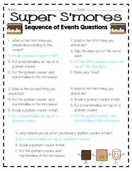 SEQUENCE OF EVENTS RECIPE BOOK - TeachersPayTeachers.com