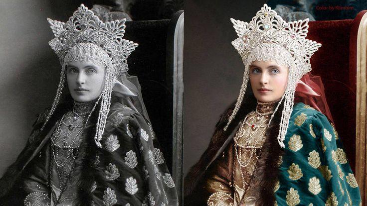 L'artiste russe Olga Chirnina (aussi connue sous son pseudonyme, «Klimbim») colorise des images d'archives du dernier bal de la Maison Romanov.