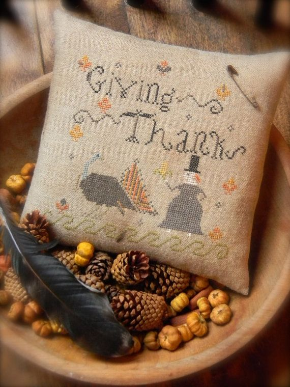 offering you my new pattern for  Giving Thanks ~ from ©Notforgotten Farm    …a plump tom-turkey is being offered a tasty ear of corn by his