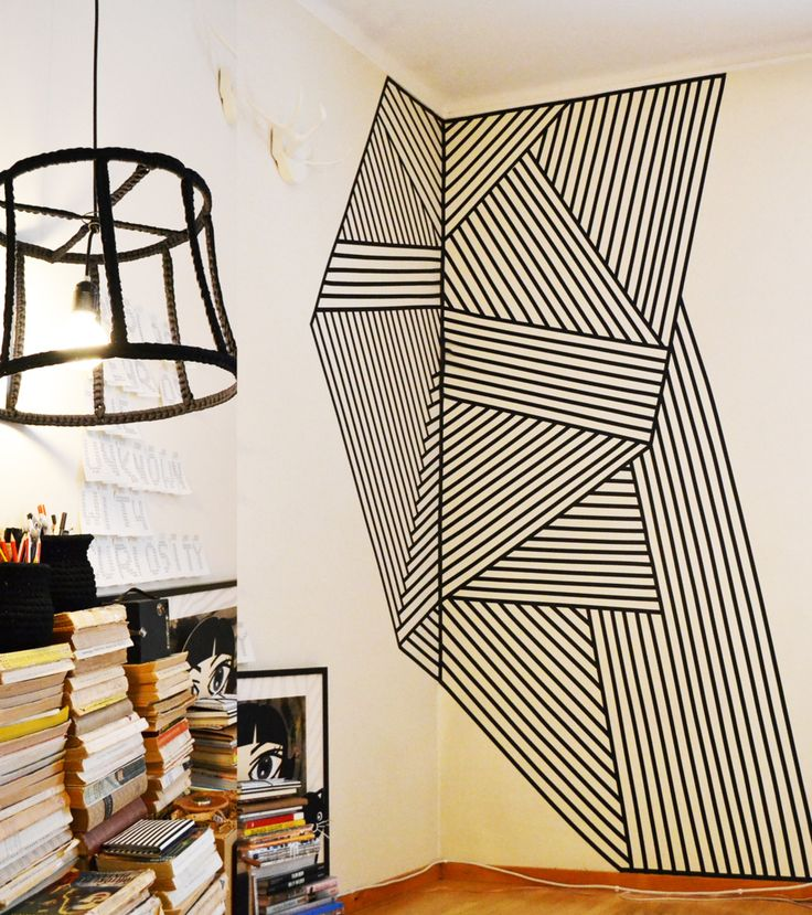 clever (removable if tape) decorating -★- stripes