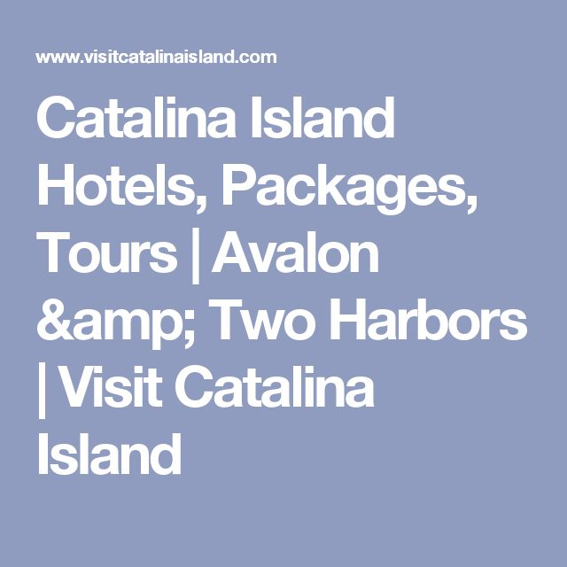 Catalina Island Packages For Families From Long Beach