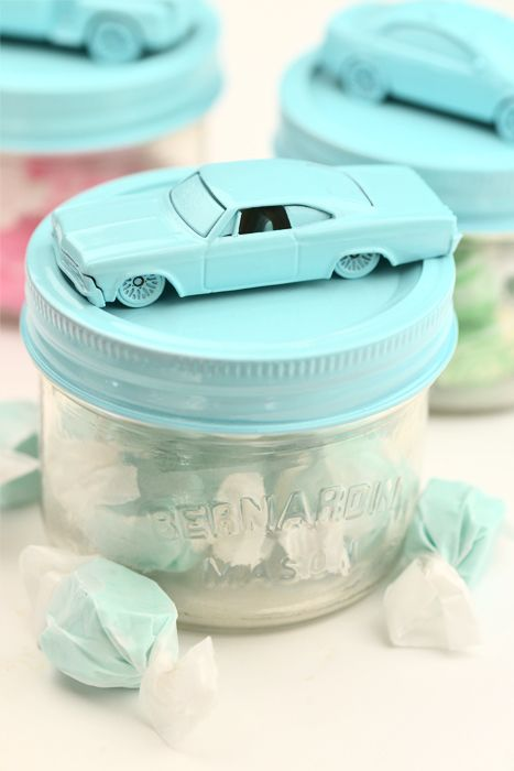 diy treat jars for the kids at the wedding