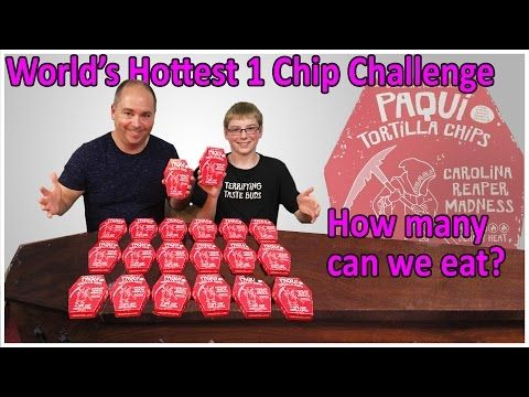 World's Hottest One Chip Challenge ... how many can we eat? : Crude Brothers - YouTube