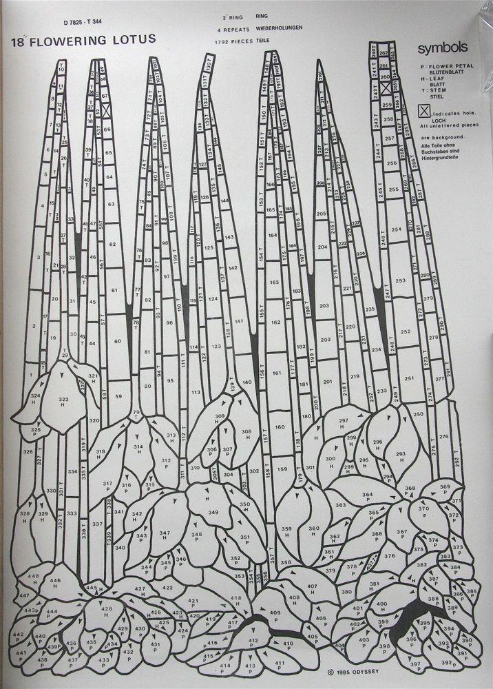 Schnittmuster für Flowering Lotus von Odyssey, Tiffany-Lampen Zubehör in Möbel & Wohnen, Hobby & Künstlerbedarf, Basteln | eBay